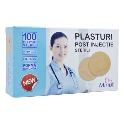 Plasturi post injectie Minut rotunzi 22mm - 100buc