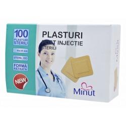 Plasturi post injectie Minut patrati 38x38mm - 100buc