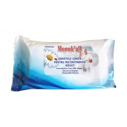 Servetele umede pentru incontinenta adulti Monuk'all-64 buc