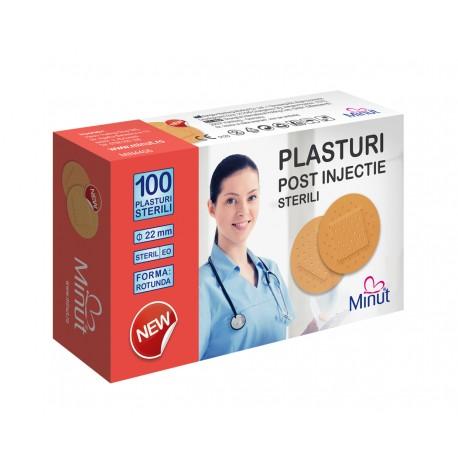 Plasturi post injectie Minut rotunzi 22mm, PVC - 100buc