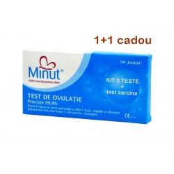 Test de ovulatie Minut intim ,tip banda 3 buc + 1 test sarcina cadou