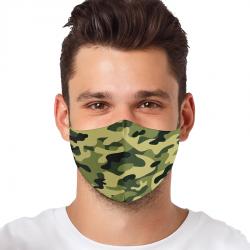 """Mască textilă reutilizabilă cu buzunar """"Hipster"""" - Bărbați, Multicolor"""