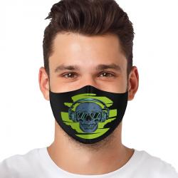 """Mască textilă reutilizabilă cu buzunar """"Skull With Headphones"""" - Bărbați, Multicolor"""