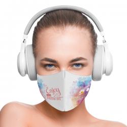 """Mască textilă reutilizabilă cu buzunar """"Enjoy Every Moment"""" - Damă, Multicolor"""