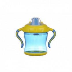 Cana cioc tare cu capac si manere Minut Baby 6+, 250ml, anticurgere, diverse culori  Culoare-Bleu