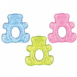 Inel dentitie Minut Baby cu gel ursulet  - diverse culori