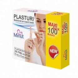 Plasturi Minut pentru rani prim ajutor - Maxi pack 100 buc